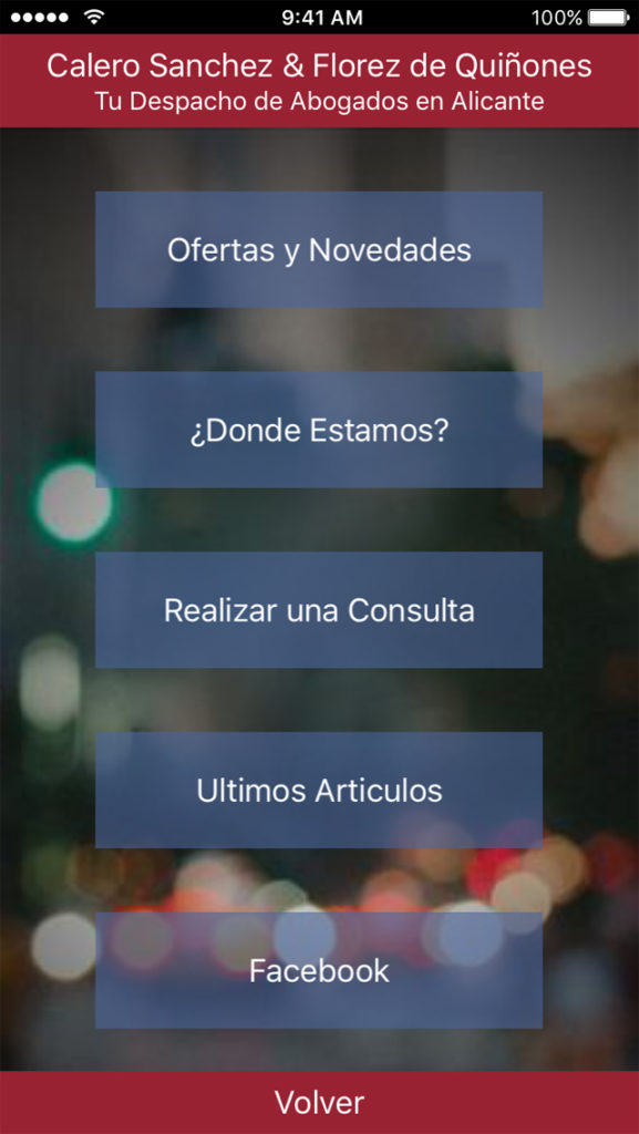 App Calero Sanchez www.abogados-en-alicante.es